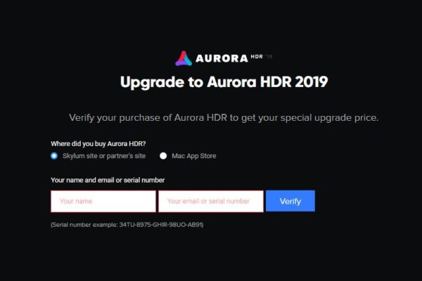 Aurora HDR 2019 (Upgrade) coupon code: MOJE --- -10$