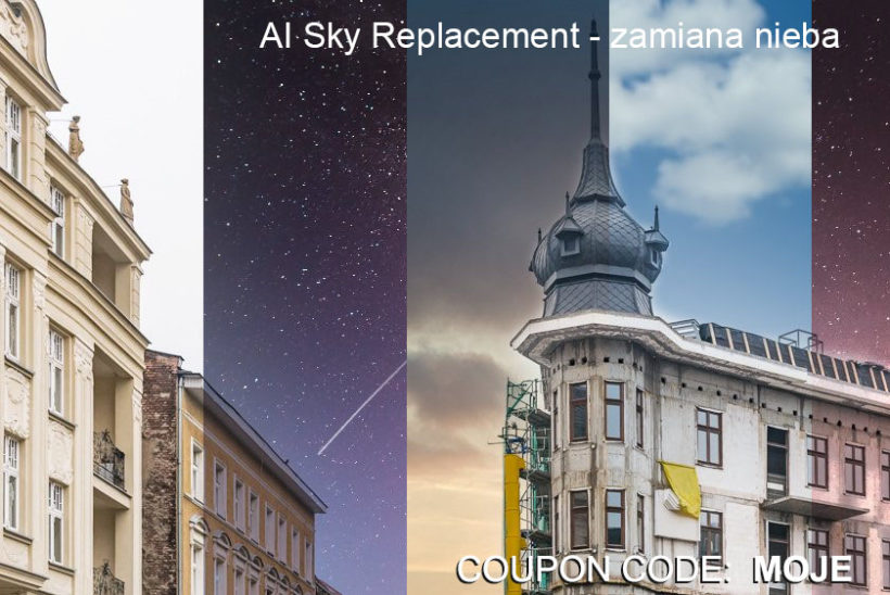 Luminar 4 AI Sky Replacement - zamiana nieba na zdjeciu - COUPON CODE -10$ off - MOJE