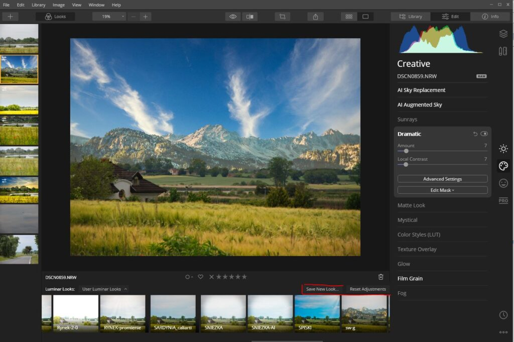 Faster Looks experience – The Luminar 4.3 presets called Looks