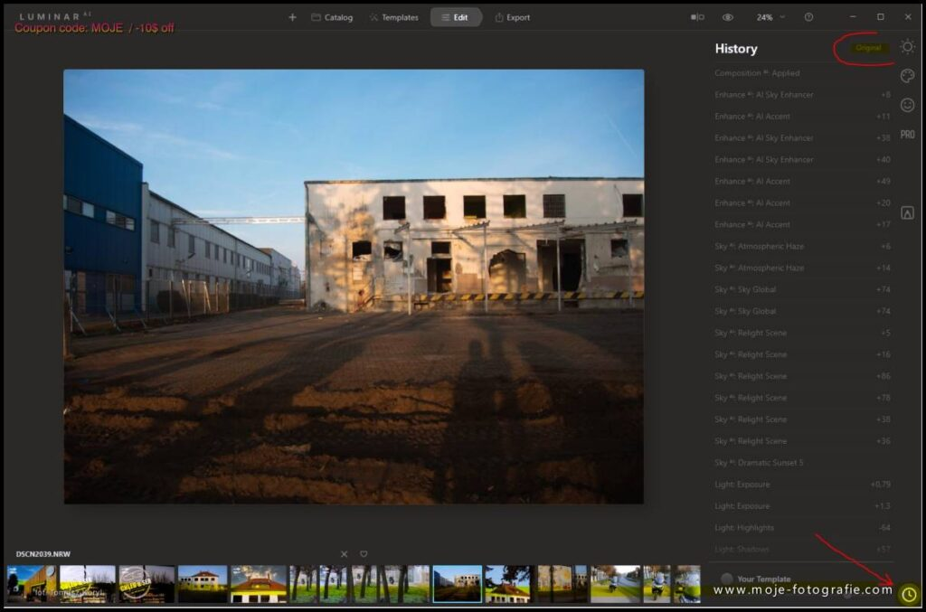 Luminar Ai LUT, Filtry  LUT Mapping Colour Lookup Tables Mood - www.moje-fotografie.com - coupon code: MOJE